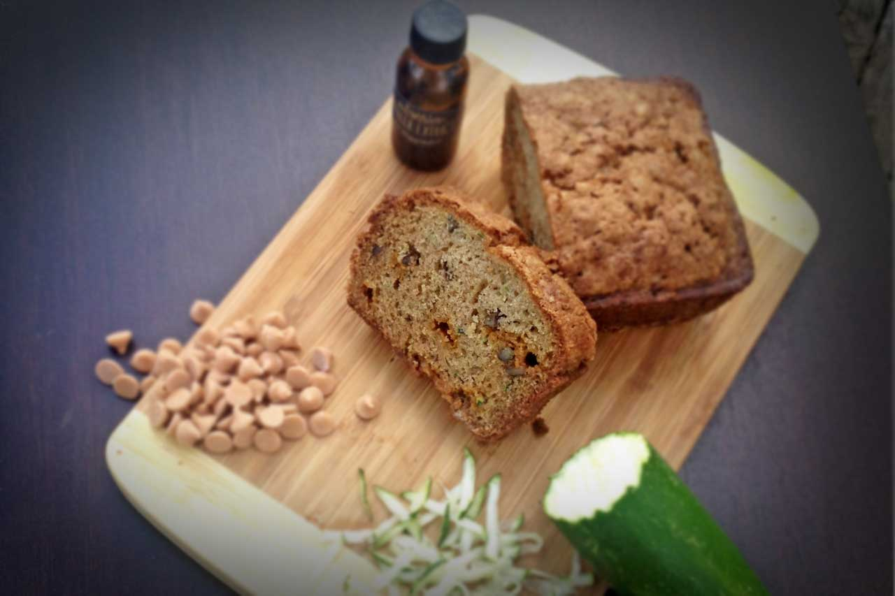 Butterscotch Pecan Zucchini Bread Recipe by Culinarie Kit